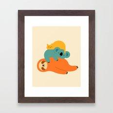 Being Lazy Framed Art Print