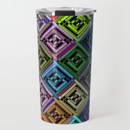 Cracked Multicolor Pattern Travel Mug