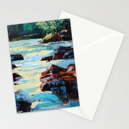 Toby Waters creek painting by Dennis Weber / ShreddyStudio Stationery Cards