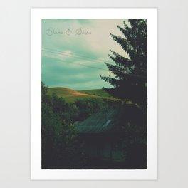 End of silence Art Print