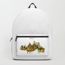 Boston watercolor skyline Backpack