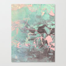 Delicate Shadow Marble Canvas Print