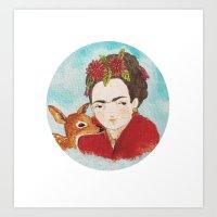 Frida & Granizo  Art Print