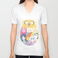 adventure V-neck T-shirts featuring Adventure by Eva Puyal
