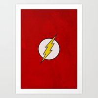 flash Art Prints featuring Flash by Some_Designs