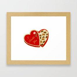I Loathe You Vintage Valentine Heart Box Framed Art Print