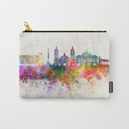 Mexico City V2 skyline in watercolor background Carry-All Pouch