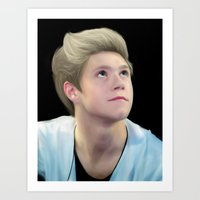 niall Art Prints featuring niall by indieharold