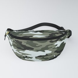 Modern Urban Military Camouflage Seamless Pattern Fanny Pack