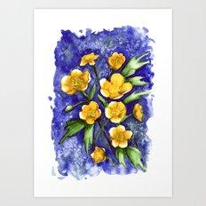 Marsh Marigolds Art Print