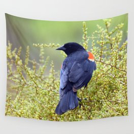 Tijuana Slough Male Redwing Blackbird Wall Tapestry