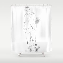 homme style Shower Curtain