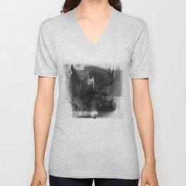 Brain Sync/Black & White Unisex V-Neck