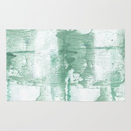 Dark sea green vague watercolor Rug
