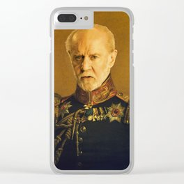 Satirical portrait of George Clear iPhone Case