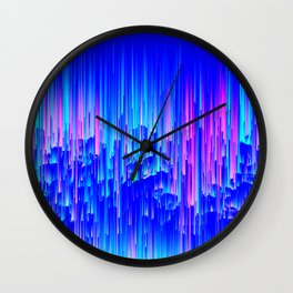 Neon Rain - A Digital Abstract Wall Clock