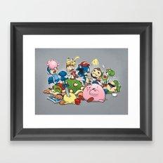 Smash Brawl Framed Art Print