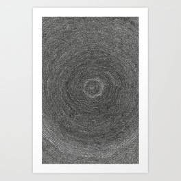 LOOK DEEP INTO THE BLACK HOLE JUST BEFORE YOU HEAD IN! Art Print