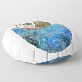 Whales are watching you Floor Pillow
