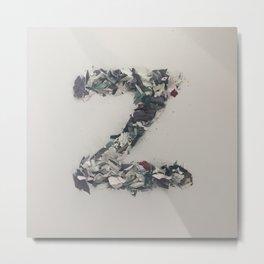 Letter Z in Paint Metal Print