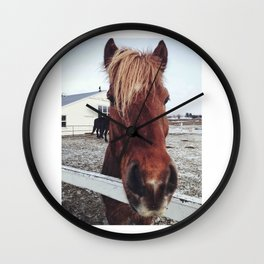Brown horse face Wall Clock