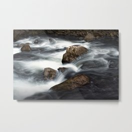 Flowing Water over Rocks in a Mountain Stream in the Smoky Mountains Metal Print
