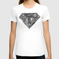 geode T-shirts featuring Black Diamond by Cat Coquillette