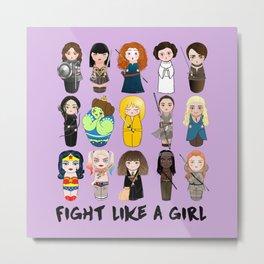 Kokeshis Fight like a girl Metal Print
