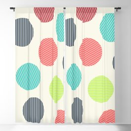 Dots with stripes [cheer up emo kid] Blackout Curtain