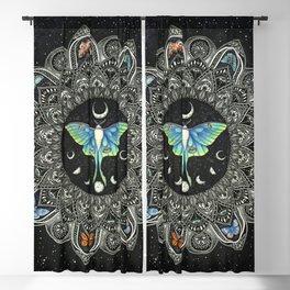 Lunar Moth Mandala with Background Blackout Curtain