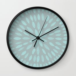 Mandala Flower #3 #mint #grey #drawing #decor #art #society6 Wall Clock