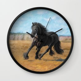 Drawing horse Wall Clock