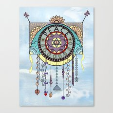 Peace Kite Dangle Canvas Print