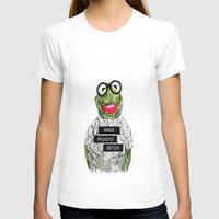 kermit T-shirts featuring Kermit The Frog by Doodalily Illustrations