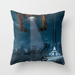 The Grid (Tron: Legacy) Travel Poster Throw Pillow