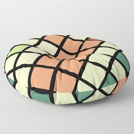Geometric Mermaid 2 Floor Pillow