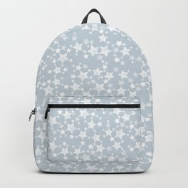 Block Printed Dusty Blue and White Stars Backpack