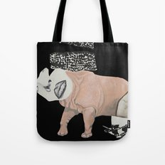 collage woman Tote Bag