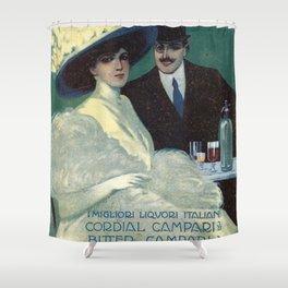 Vintage 1910 Campari Advertisement by Gian Emilio Malerba Shower Curtain