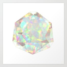 Milky White Opal Art Print
