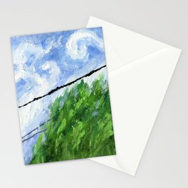 Tress, Wind and Cables Stationery Cards