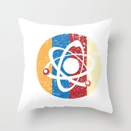 Awesome Billiards Ball Atom Science Throw Pillow