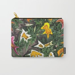 456 - Abstract Flower Garden Carry-All Pouch