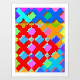 Cubic Quilt Pattern  Art Print
