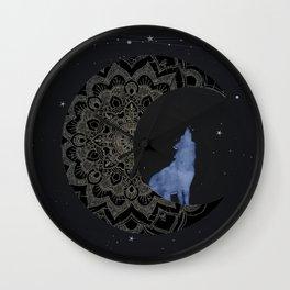 Wolf Moon Wall Clock