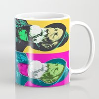 lichtenstein Mugs featuring Warhol, Lichtenstein & The Fisherman by Christoffer Dupont