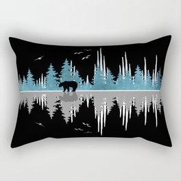 The Sounds Of Nature - Music Sound Wave Rectangular Pillow