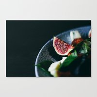 fig Canvas Prints featuring fig by anna bell