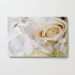 Wedding white flowers bouquet Metal Print