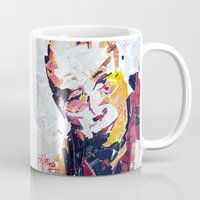 lama Mugs featuring Calai Lama by Phil Fung